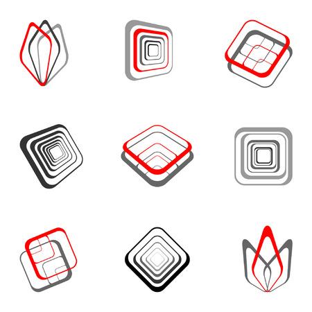 set square: Design elements set Illustration