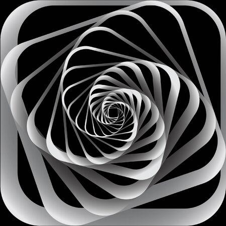 らせん状の動き。抽象的な背景。イラスト。