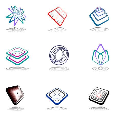 Design elements set. Vector illustration. Vector
