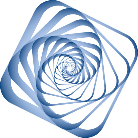 Spiral motion. Design element. Vector