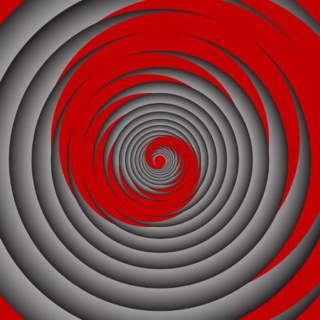 Spiral motion  illustration. Vector