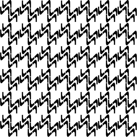 Seamless zigzag pattern #2.  Vector