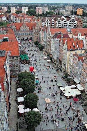 birdseye: Gdansk, Poland. Birds-eye view.