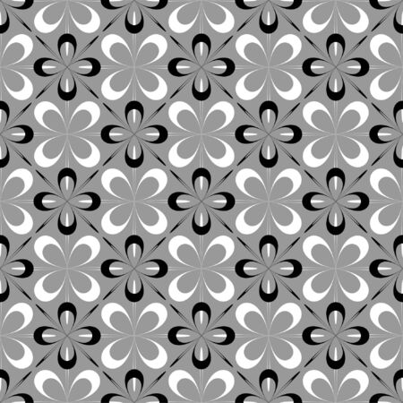 checked fabric: Seamless floral design
