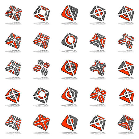 Design elements set. 25 abstract icons. Stock Vector - 8038797