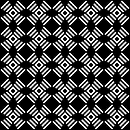 Seamless geometric black-and-white pattern  Ilustrace