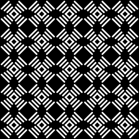iteration: Seamless geometric black-and-white pattern  Illustration
