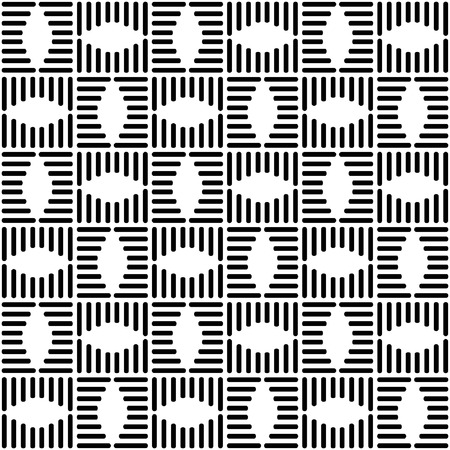 Seamless checked design. Geometric black-and-white pattern  Vector
