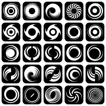 スパイラルの運動と回転。デザイン要素のセットです。  イラスト・ベクター素材