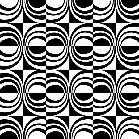 シームレスな装飾的なデザイン。チェック パターン。ベクトル アート。