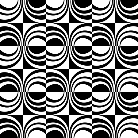 Seamless decorative design. Checked pattern. Vector art.
