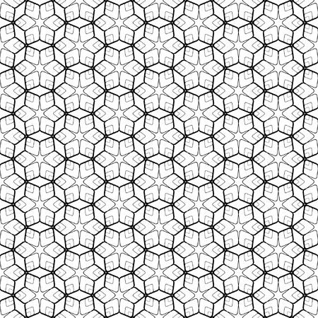 六角形の要素を持つシームレスな幾何学模様。ベクトル アート。  イラスト・ベクター素材