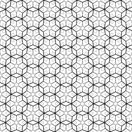Seamless geometric pattern with hexagonal elements. Vector art. Vector