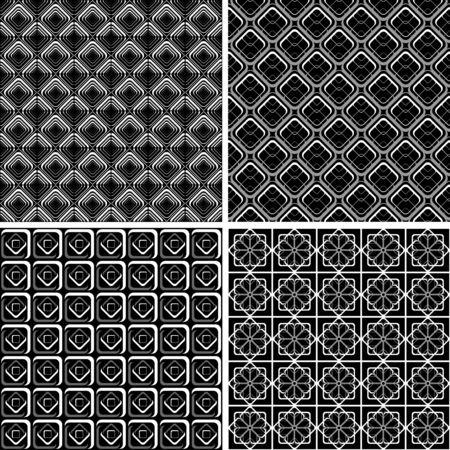 modular: Seamless geometric checked designs set.