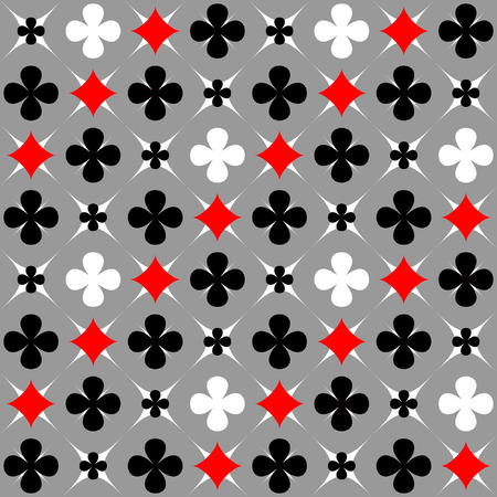 Seamless pattern with card suits motif Vector