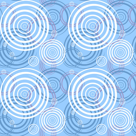 Seamless pattern with spiral elements. Fancy graphic design. Vector art. Vector