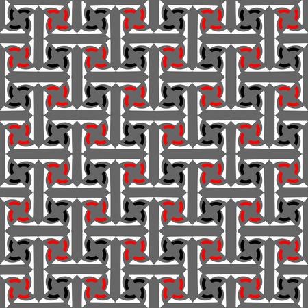 interweaving: Modello di labirintica decorativo senza soluzione di continuit�. Abstract texture con intreccio di effetto.