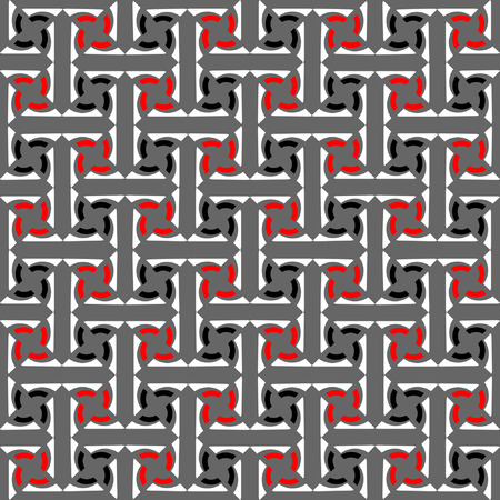 interweaving: Seamless decorative labyrinthine pattern. Abstract texture with interweaving effect.