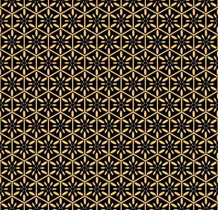 hexagonal: Seamless decorative pattern. illustration.