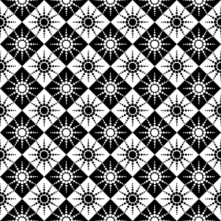 Seamless checked pattern with dots design.  illustration. Vector