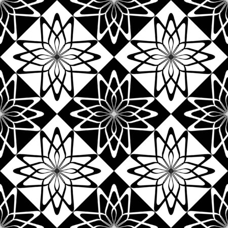 Seamless decorative checked pattern.  illustration. Vector