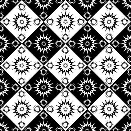 Seamless decorative checked pattern Vector