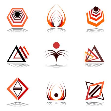triangulo: Dise�ar elementos en colores c�lidos.  Vectores