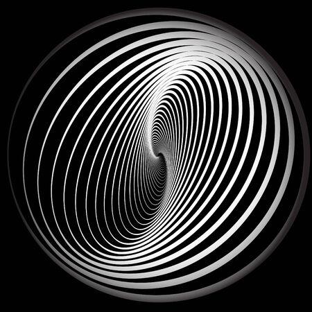 螺線形の動きと抽象的な背景。