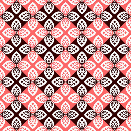 Seamless floral checked pattern. Stock Vector - 8873415