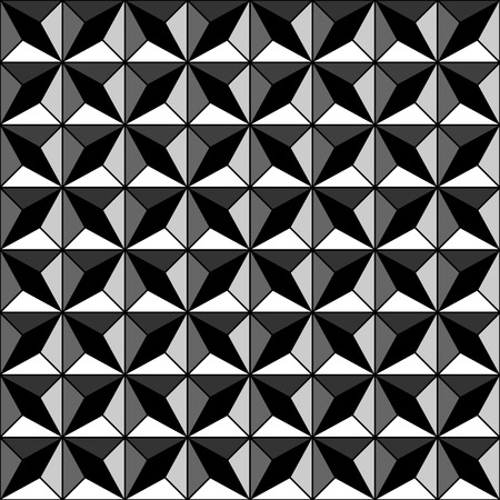 pyramidal: Seamless geometric texture with relief effect. Vector illustration. Illustration