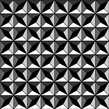 iteration: Seamless texture geometrica con effetto di sollievo. Illustrazione vettoriale.