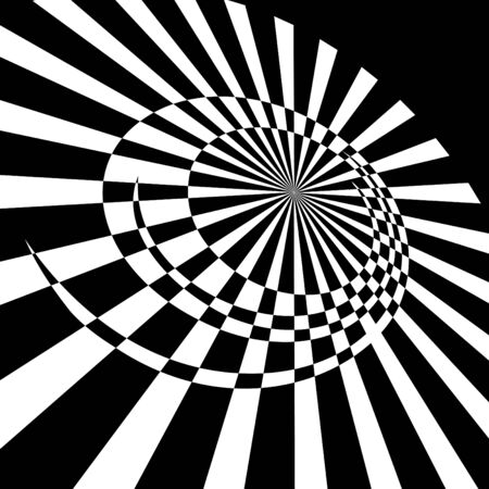 gyration: Abstract rotary movement. Vector illustration.