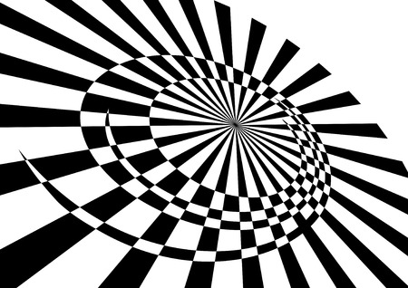 gyration: Rotary movement. Abstract background. Vector illustration. Illustration