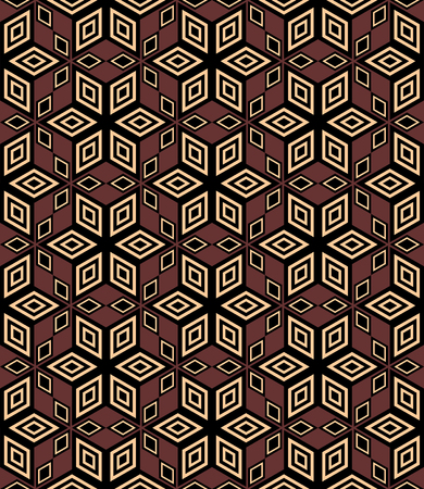 rhombus: Seamless decorative geometric pattern. illustration.