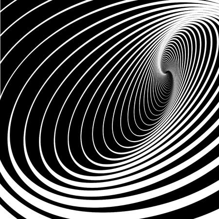 optical art: Movimiento en espiral torbellino. Fondo abstracto. Ilustraci�n vectorial.