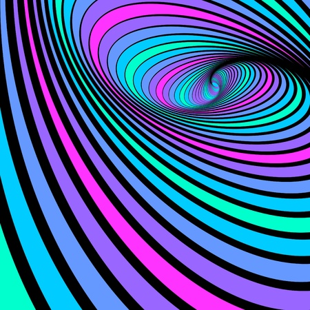Whirl spiral movement. Abstract color background. Vector illustration. Illustration