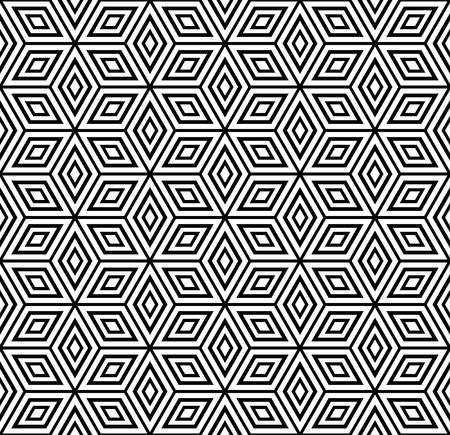 シームレスな幾何学模様。ベクトル イラスト。