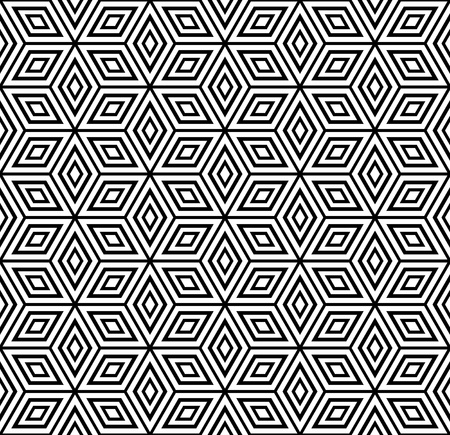 illusions: Seamless geometric pattern. Vector illustration. Illustration