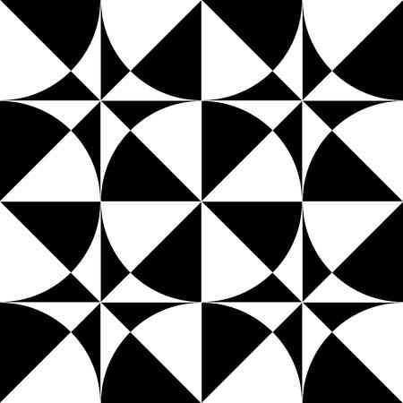 シームレスな幾何学的オップ ・ アート デザイン。ベクトル イラスト。