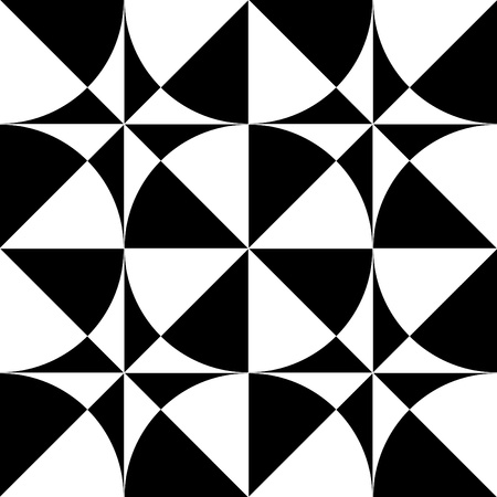 sector: Seamless geometric  op art design. Vector illustration.