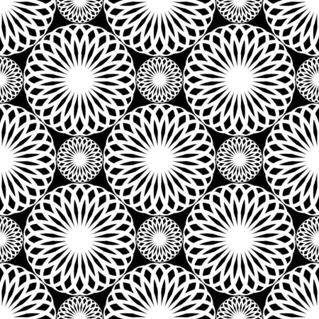 Seamless lacy pattern. Rosette texture. Vector