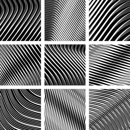 Abstract textured backgrounds in op art design Vector