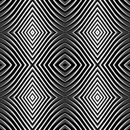 Seamless pattern in op art design. Stock Vector - 9370141