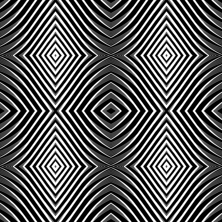 optical illusion: Seamless pattern in op art design.