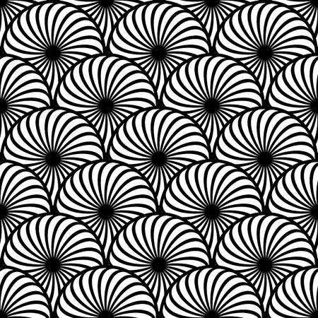 円形の要素とのシームレスなパターン。ベクトル アート。