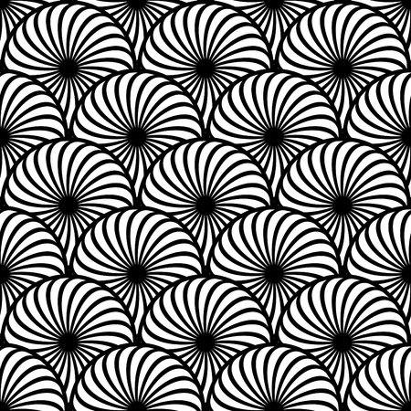 Seamless pattern with circle-shaped elements. Vector art. Ilustrace