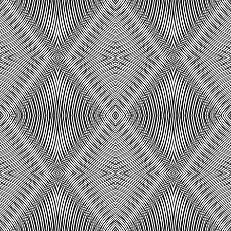 Seamless geometric rhombuses pattern. Vector op art. No gradient. Vector