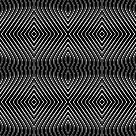Seamless geometric pattern. Vector op art. No gradient. Vector