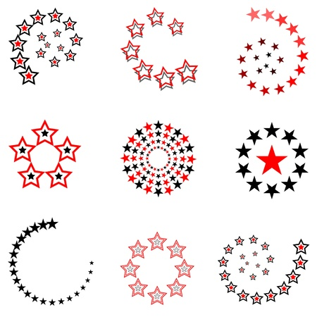 Stars. Design elements set. Vector art.