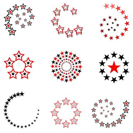 Stars. Design elements set. Vector art. Vector